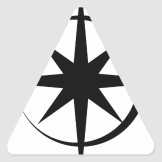 Eclipsed Star Triangle Sticker