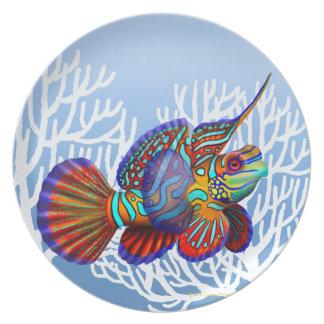 Eclisa del gobio de Dragonet del mandarín del filó Platos Para Fiestas