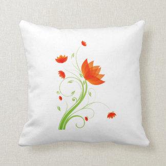 eco abstracto anaranjado graphic.png de la flor cojines