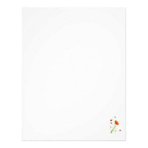 eco abstracto anaranjado graphic.png de la flor plantilla de membrete