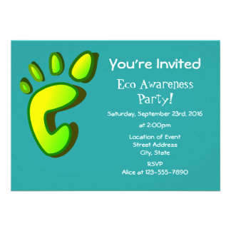 Eco Awareness Party Card