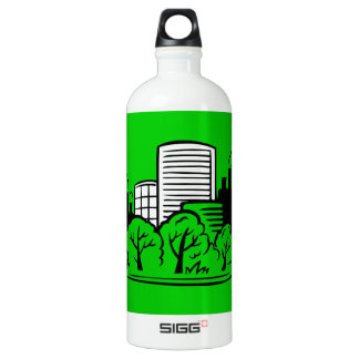 Eco buildings environment aluminum water bottle