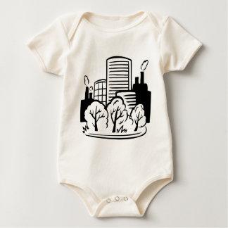 Eco buildings environment baby bodysuit
