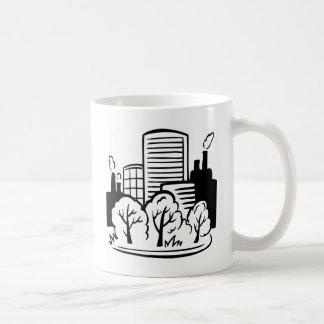 Eco buildings environment coffee mug