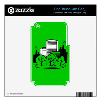 Eco buildings environment iPod touch 4G decal