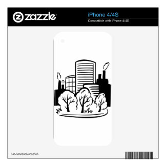 Eco buildings environment iPhone 4S skin