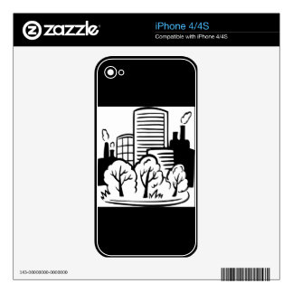 Eco buildings environment iPhone 4 decals