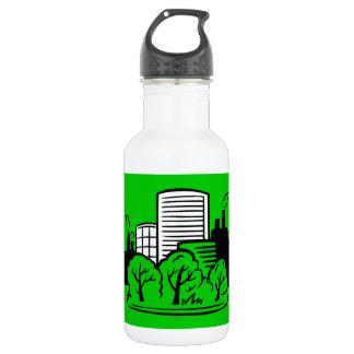 Eco buildings environment water bottle