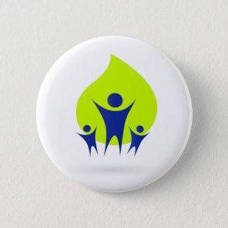 Eco button : Healthy family theme