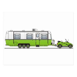 Eco Car Camper Postcard