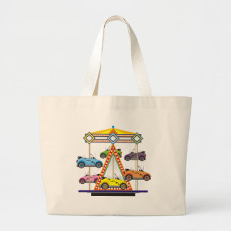 Eco Car Carrousel Large Tote Bag
