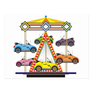 Eco Car Carrousel Postcard