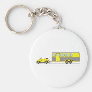 Eco Car Horse Trailer Keychain