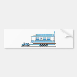 Eco Car House Boat Car Bumper Sticker