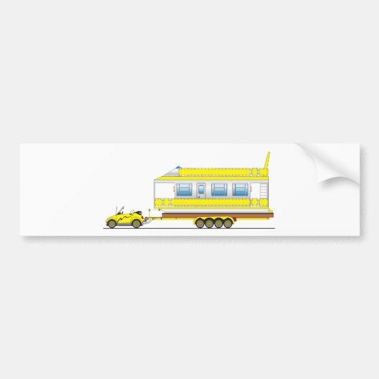 Eco Car House Boat Bumper Sticker
