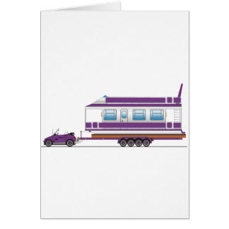 Eco Car House Boat Greeting Cards