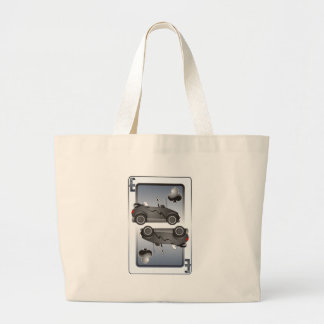 Eco Car Playing Cards Clubs Large Tote Bag