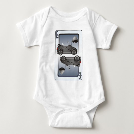 Eco Car Playing Cards Spades Baby Bodysuit