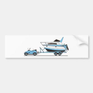 Eco Car Power Boat Bumper Sticker