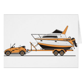Eco Car Power Boat Cards