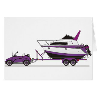 Eco Car Power Boat Greeting Cards