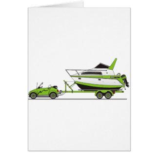 Eco Car Power Boat Greeting Card