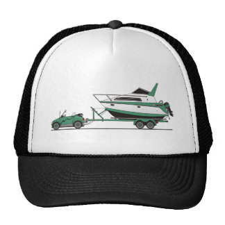 Eco Car Power Boat Mesh Hat