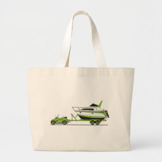 Eco Car Power Boat Large Tote Bag
