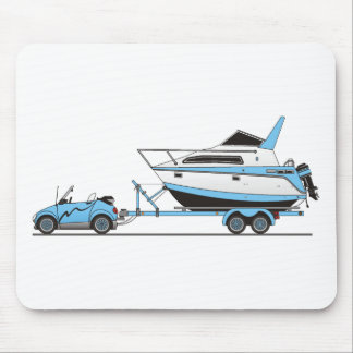 Eco Car Power Boat Mouse Pad