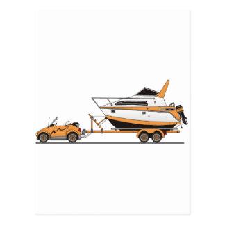 Eco Car Power Boat Post Card
