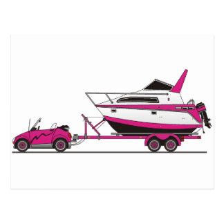Eco Car Power Boat Postcard