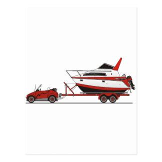 Eco Car Power Boat Postcards