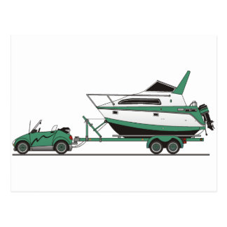 Eco Car Power Boat Post Cards