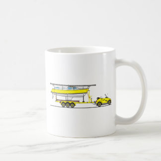 Eco Car Sail Boat Coffee Mug