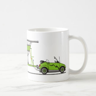 Eco Car Sail Boat Green Coffee Mug