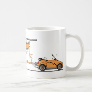 Eco Car Sail Boat Orange Coffee Mug