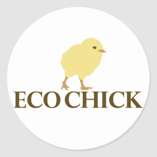 ECO CHICK CLASSIC ROUND STICKER