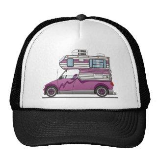 Eco coge púrpura del campista gorras de camionero
