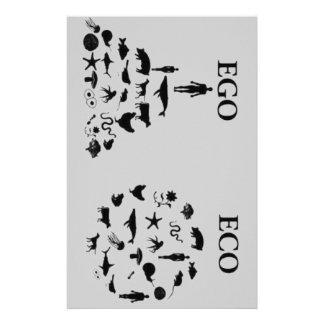Eco contra ego papeleria de diseño