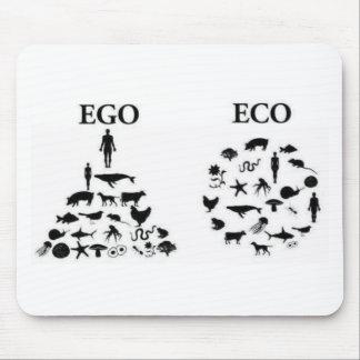 Eco contra ego tapete de raton