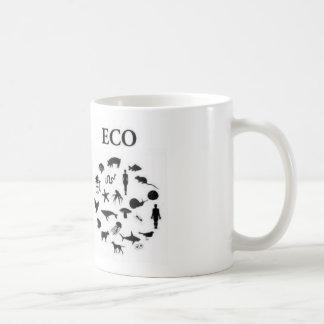 Eco contra ego taza de café