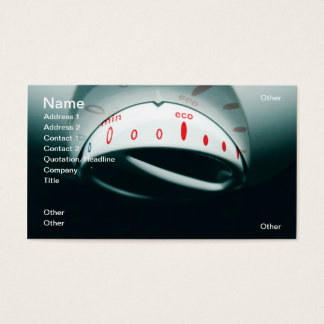 Eco cosumption business card