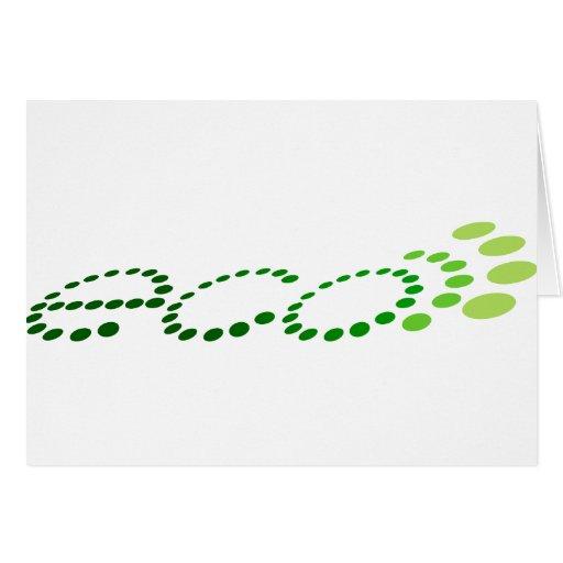 eco del eco tarjeta de felicitación