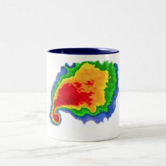 Eco del gancho taza de café de dos colores