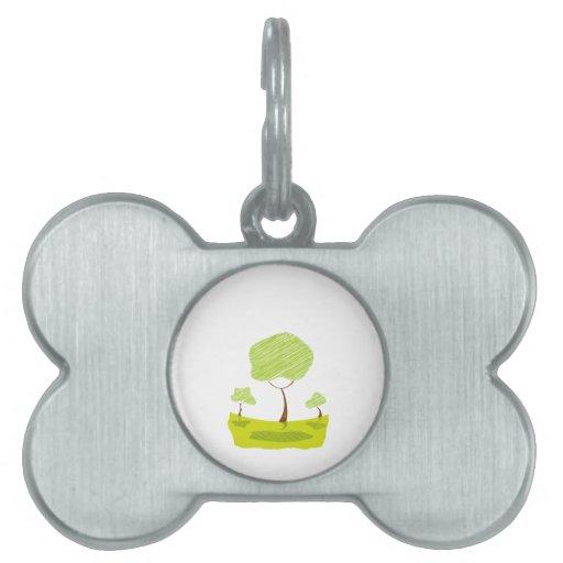 eco design.png del amarillo del paisaje del árbol  placa mascota