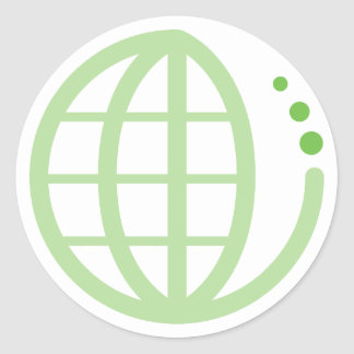 eco earth classic round sticker