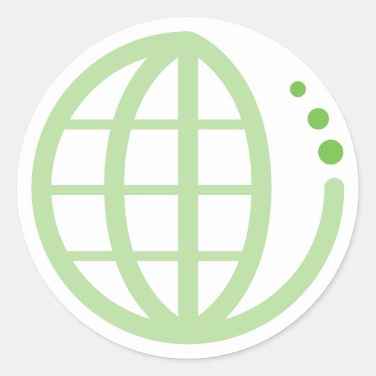 eco earth classic round sticker
