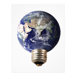 Eco earth lightbulb letterhead design