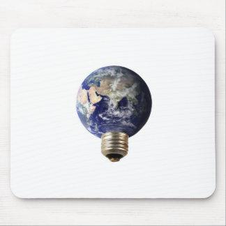Eco earth lightbulb mouse pad