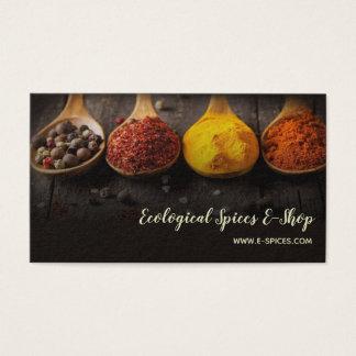 Eco Ecological Organic Spices Shop Bazar Boutique Business Card